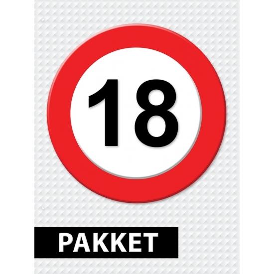 Verjaardag 18 Jarige.Uitgebreid Verkeersbord 18 Jaar Versiering En Feestartikelen
